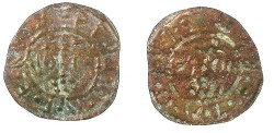 World Coins - CAPPADOCIA.KELVERI.St.Gregory Theologus church.AE.10 Para ''Bracteate''Token 1888