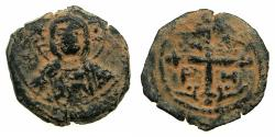 World Coins - CRUSADER STATES.Principality of ANTIOCH.Tancred AD 1104-1112.AE.Follis.4th type. Facing bust of Christ.