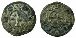 World Coins - FRANCE.DEOLS.Eudes l'Ancien ( Odo the old ) AD1012-1044.Billon.Denier.