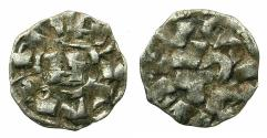 World Coins - CRUSADER.1st crusade:preferred coinage.TUSCANY.LUCCA.12th cent.AD.Bi.Denier.Rough style.