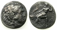 Ancient Coins - EGYPT.Mint of MEMPHIS. Alexander III The Great 336-323 BC.AR.Tetradrachm. **** Good space filler, Rare lifetime issue of Alexander the Great ****
