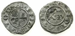 World Coins - ITALY.BRINDISI.Henry VI and Constance AD 1194-1197.Billon Denaro.Type 7