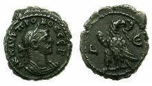 Ancient Coins - EGYPT.ALEXANDRIA.Probus AD 276-282.Billon Tetradrachm, struck AD 279/280. Reverse. Eagle standing left on thunderbolt.