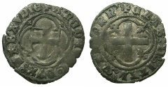 World Coins - ITALY.SAVOY.Amedeo VIII AD as Duke 1416-1440.Mezzo Grosso  1st Type. ****Amedeo as Felix V was the last Anti-pope****