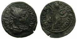 Ancient Coins - MACEDON.THESSALONIKA.Gallienus AD 253-268 AE.4 Assaria. Rev.Athena promachos.