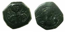 Ancient Coins - BYZANTINE EMPIRE.Manuel I Comnenus AD 1143-1180.AE.Tetrateron.Mint of THESSALONIKA. Saint George.