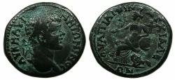 Ancient Coins - THRACE.ANCHIALUS.Caracalla AD 198-217.AE.27.7mm.~#~.Kybele enthroned.