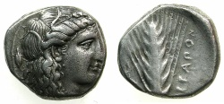 Ancient Coins - LUCANIA.METAPONTION.AR.Nomos ( didrachm ).circa  400-340BC.