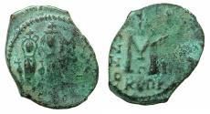 Ancient Coins - BYZANTINE EMPIRE.CYPRUS.Heraclius AD 610-641.AE.Follis, struck AD 626/627?.Mint of Constantia?