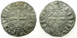 World Coins - FRANCE.CHAMPAGNE.Counts of PROVENCE.Henry I AD 1152-1180.Billon Denier.