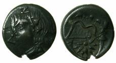Ancient Coins - BLACK SEA.PANTIKAPAION.Circa 3rd Cent BC.AE.