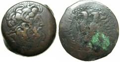 Ancient Coins - PTOLEMAIC EMPIRE.EGYPT.ALEXANDRIA.Ptolemy VI Philometor 180-145 BC,Joint reign with Ptolemy VIII 170-164/3 BC. AE.34.6m.~#~.Two Eagles.