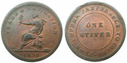 World Coins - BRITISH GUYANA.AE.Stiver 1838.Trade and Navigation.