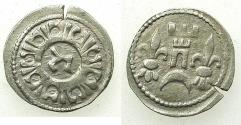 World Coins - HUNGARY.Bela IV AD 1235-1270.AR.Dinar.Struck at a mint in Croatia. Reverse.Hebrew letter TZADI .