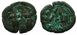 Ancient Coins - BYZANTINE EMPIRE.Heraclius AD 610-641.AE.Three quarter folles, struck AD 629/ 630.Mint of CONSTANTINOPLE.