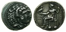 Ancient Coins - MACEDON.Alexander III 336-323 BC.'Electrotype'Tetrachma after Ake mint.British Museum Electrotype by Robert Ready.