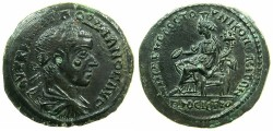 Ancient Coins - MOESIA INFERIOR.NIKOPOLIS AD ISTRUM.Gordian III AD 238-244.28mm.~#~.Homonia seated.