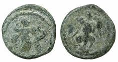 Ancient Coins - EGYPT.ALEXANDRIA.2nd -3rd cent AD.Pb.Tessera. Athena right. Reverse. Nike