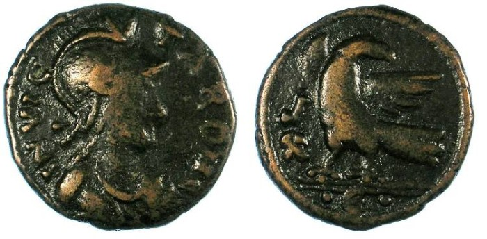 Ancient Coins - Ostrogothic.Rome.Non regal issue of Theodoric and Athalaric c. AD 493-534 .AE.Follis