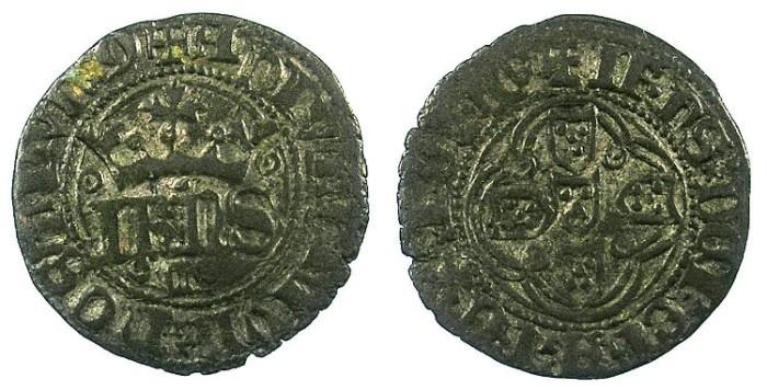 Ancient Coins - PORTUGAL.Joao I 1385-1433.Bi.Bolhao.Lisbon mint.