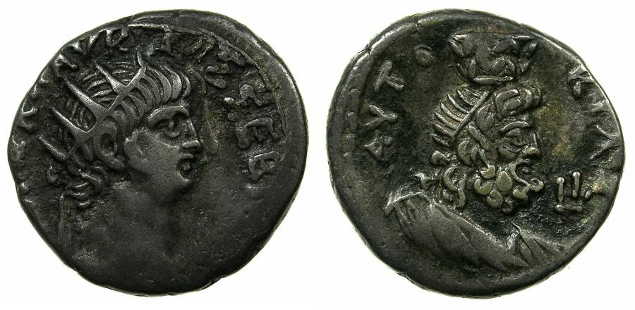Ancient Coins - EGYPT.ALEXANDRIA.Nero AD 54-68.Bi.Tetradrachm, struck AD 64/65. ~#~.Detailed portrait of SERAPIS