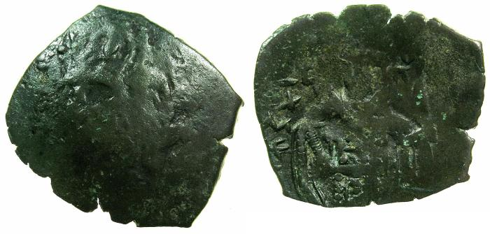 Ancient Coins - BYZANTINE EMPIRE.Michael VIII alone AD 1261-1272.AE.Trachy.Class XXV.Mint of CONSTANTINOPLE.