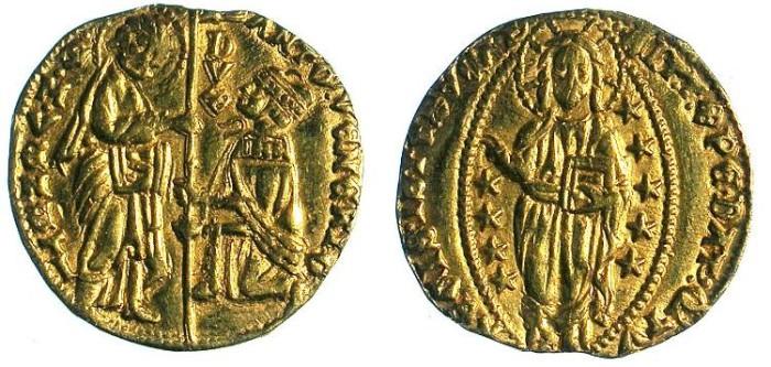 Ancient Coins - ITALY.Venice.Antonio Venier 1382- 1400.AV.Ducato.