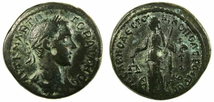 Ancient Coins - MOESIA INFERIOR.Nikopolis ad Istrum.Gordian III AD 238-244.AE.26.Dikaiosyne-Nemesis