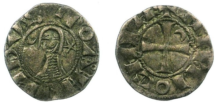 Ancient Coins - Crusader.Principality of  Antioch. Bohemond III or IV c.1149-1233 Bi.Denier. Class C