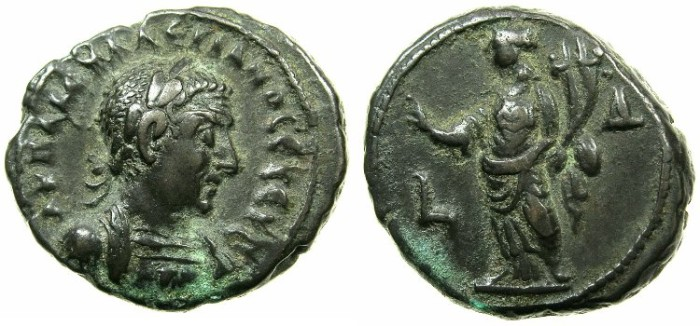 Ancient Coins - EGYPT.ALEXANDRIA.Valerian I ( The elder ) AD 253-260.Billon Tetradrachm Struck AD 256/57.~#~.Homonia.