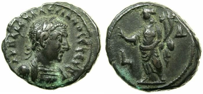 Ancient Coins - EGYPT.ALEXANDRIA.Valerian I ( The elder ) AD 253-260.Billon Tetradrachm Struck AD 256/57.~#~.Homonia.