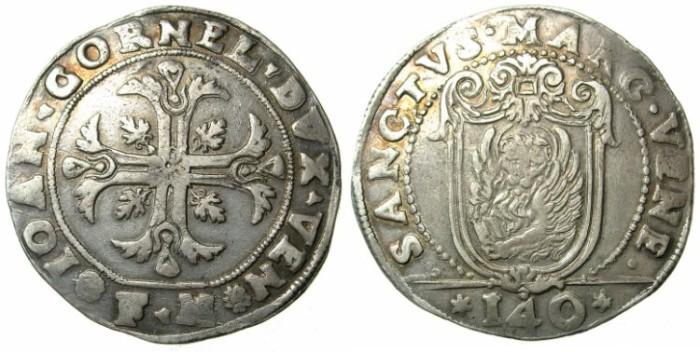 Ancient Coins - ITALY.VENICE.Giovanni I Cornaro AD 1624-1629.AR.Scudo della Croce.