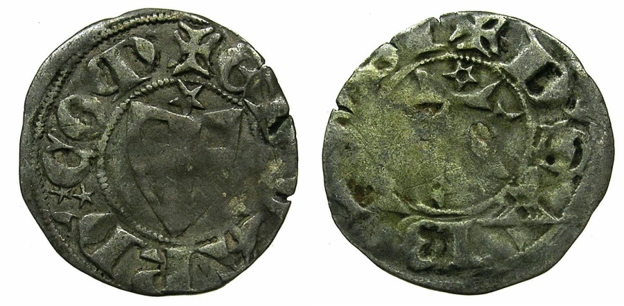 World Coins - ITALY.SAVOY.Edoardo AD 1323-1329.Billon Forte, 1st Type.
