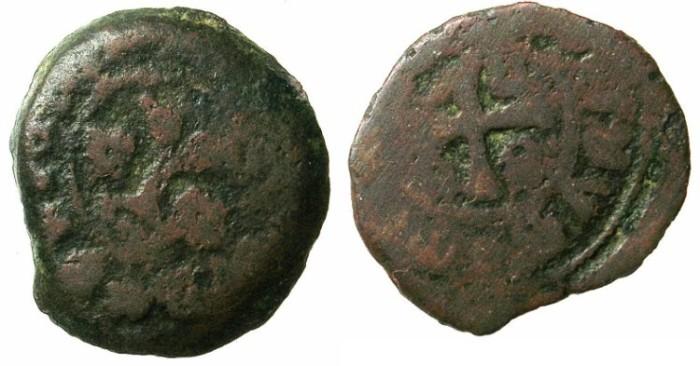 Ancient Coins - CRUSADER STATES.MYTILENE.Jacopo Gattilusio AD 1403-1428.AE.Denier.