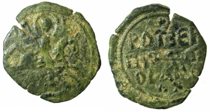 Ancient Coins - CRUSADER. ANTIOCH.Roger of Salerno AD 1112-1119.AE.Follis.3rd type.