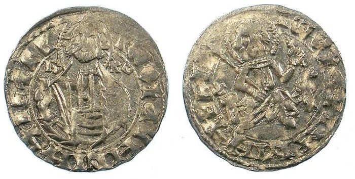 World Coins - BULGARIA.John Stracimar AD 1360-1396.AR.Grosch.