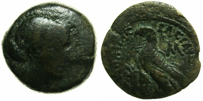 Ancient Coins - PTOLEMAIC EMPIRE.EGYPT.ALEXANDRIA.Cleopatra Thea VII 51-30 BC.AE.40 Drachmai.