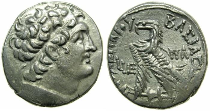 Ancient Coins - EGYPT.ALEXANDRIA.Ptolemy XII Neos Dionysios 80-51 BC.AR.Tetradrachm.1st reign 80-58 BC.Mint of Alexandria.Struck 67/6 BC.~~~Artistic portrait of Ptolemy.