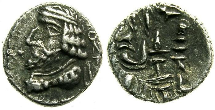 Ancient Coins - PERSIS.Vahsir.AR.Obol.