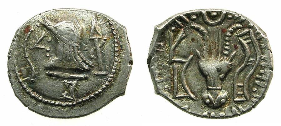 Ancient Coins - ARABIA FELIX.Himyarites.Anonymous 1st cent BC.AR.Denarius.