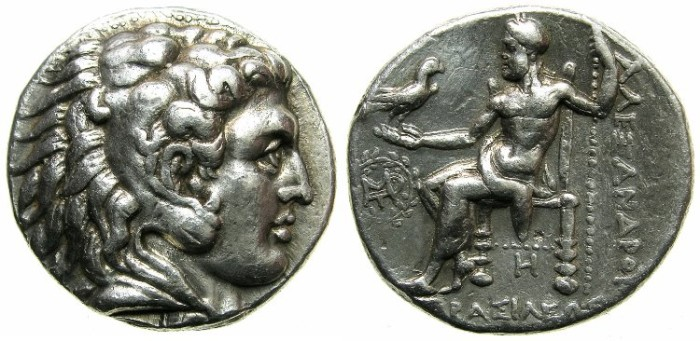 Ancient Coins - MACEDONIAN EMPIRE.Alexander III The Great 336-323 BC.AR.Tetradrachm.Posthumus issue struck circa 317-circa 311 BC.Mint of BABYLON