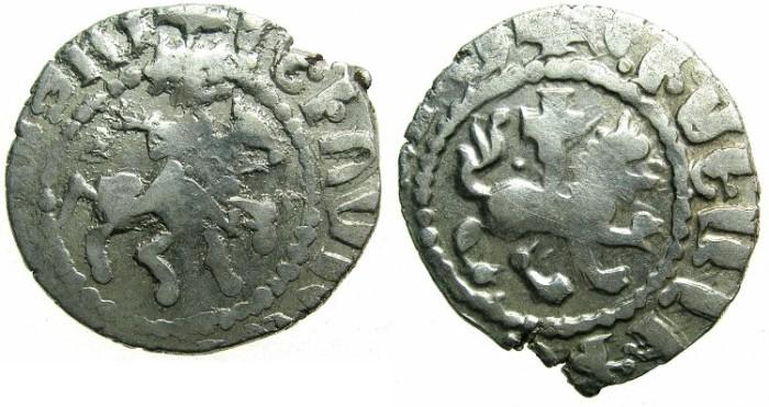Ancient Coins - CILICIAN ARMENIA.Levon IV AD 1320-1342.AR.Takvorin.Sigla J-M.Mint of SIS.