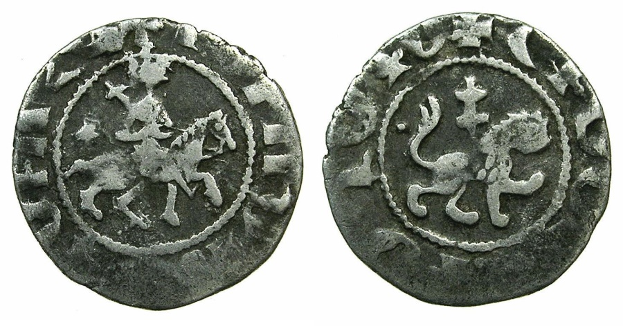 World Coins - CILICIAN ARMENIA.Levon III AD 1301-1307.AR.Takvorin.Mint of SIS.~#~.Lion with patriarchal cross on back.