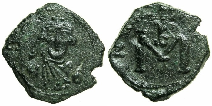 Ancient Coins - BYZANTINE EMPIRE.SICILY.Constans II AD 641-668.AE.Follis. Mint of SYRACUSE.