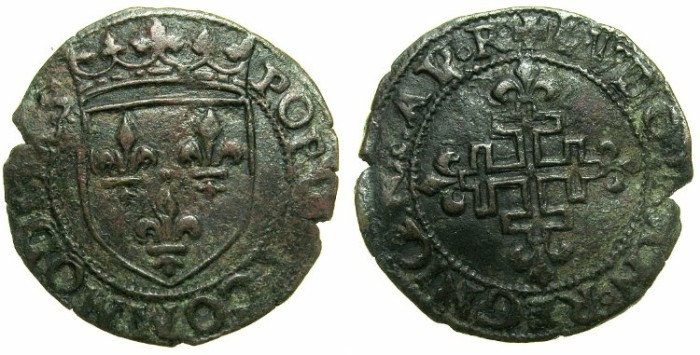 Ancient Coins - ITALY.Kingdom of NAPLES.Louis XII of France AD 1501-1503.AE.Sestino.