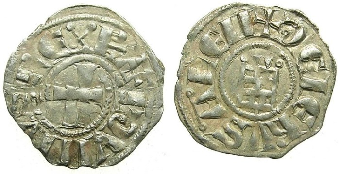Ancient Coins - CRUSADER.JERUSALEM.Baldwin III AD 1143-1163.Bi.Denier.Smooth series.type 4.
