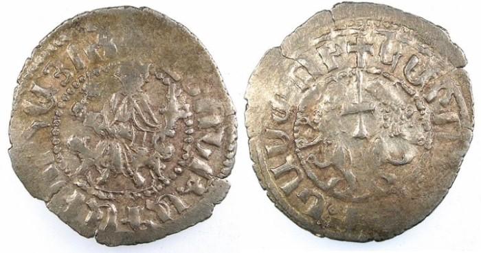 Ancient Coins - ARMENIA.Levon I AD 1199-1219.AR.Tram.