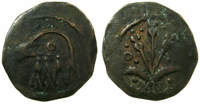Ancient Coins - SPAIN.CATALONIA.Ferdinand II AD 1479-1516.AE.Senyal.Mint of ARBECA.