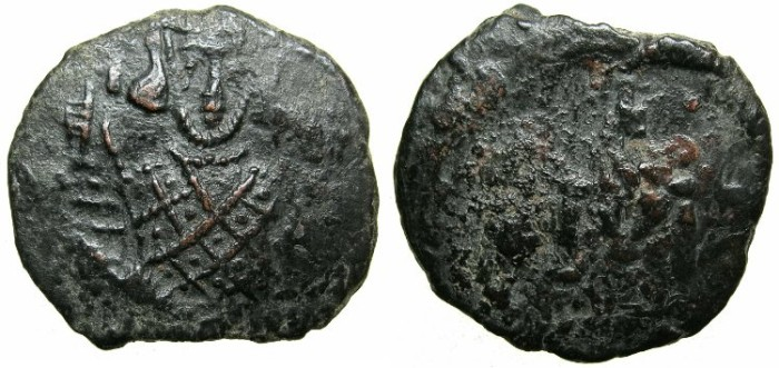 Ancient Coins - BYZANTINE EMPIRE.SICILY.Justinian II 2nd reign AD 705-711.AE.Follis.Mint of SYRACUSE.