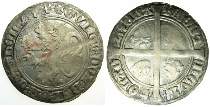 World Coins - NETHERLANDS.County of.HOLLAND. William VI of Beieren AD 1404-1417.AR.Groat.Issue of 1411.